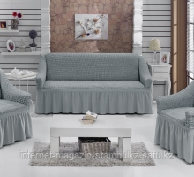 """Набор чехлов для дивана """"BULSAN"""" 3+1+1, жатка с юбкой"""