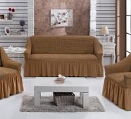 """Набор чехлов для дивана """"BULSAN"""" 3+1+1, жатка с юбкой, фото 2"""