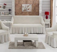 """Набор чехлов для дивана """"BULSAN"""" 3+1+1, жатка с юбкой, фото 3"""
