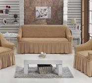 """Набор чехлов для дивана """"BULSAN"""" 3+1+1, жатка с юбкой, фото 5"""