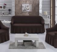 """Набор чехлов для дивана """"BULSAN"""" 3+1+1, жатка с юбкой, фото 7"""