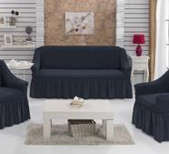 """Набор чехлов для дивана """"BULSAN"""" 3+1+1, жатка с юбкой, фото 8"""