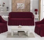 """Набор чехлов для дивана """"BULSAN"""" 3+1+1, жатка с юбкой, фото 9"""