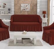 """Набор чехлов для дивана """"BULSAN"""" 3+1+1, жатка с юбкой, фото 10"""