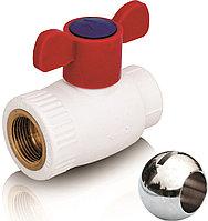 Шаровой кран из ППР с шариком из латуни для горячей воды