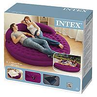 Надувная круглая кровать Ultra Daybed насос в подарок