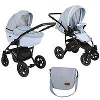 Детская коляска Pituso Confort 2 в 1 Голубой/Кожа Голубой