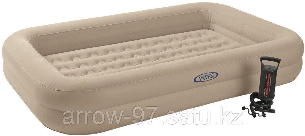 Детская надувная кровать с бортиками INTEX с насосом - фото 4
