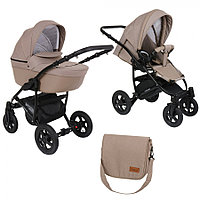 Детская коляска Pituso Confort 2 в 1 Капучино/Кожа Капучино, фото 1