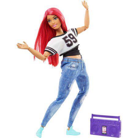 """Barbie """"Безграничные движения"""" Кукла Барби Рыжая (пышная) - Уличные танцы"""