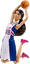 "Barbie ""Безграничные движения"" Кукла Барби Шатенка - Баскетболистка"