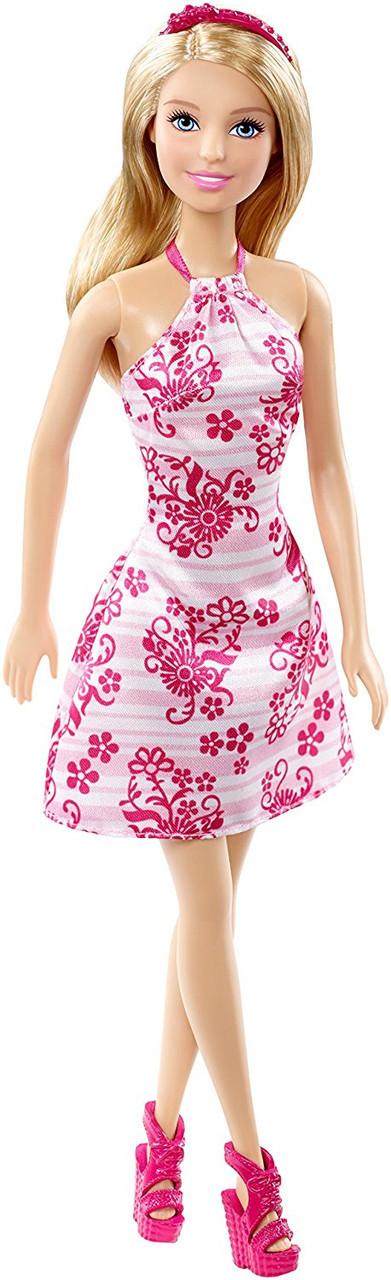 """Barbie """"Гламурный стиль"""" Кукла Барби Блондинка в бело-розовом платье"""