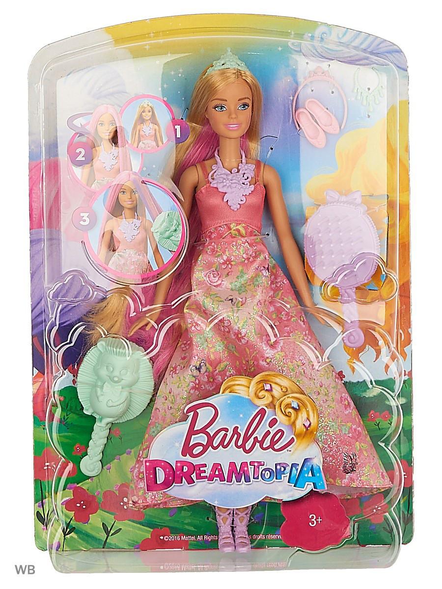 "Barbie ""Дримтопиа"" Принцесса с волшебными волосами, Кукла Барби"