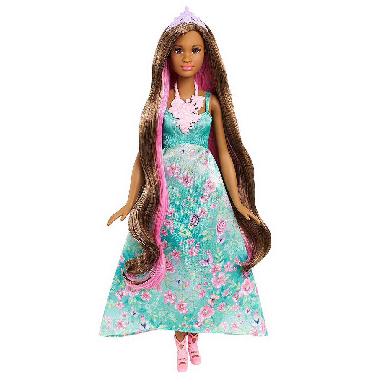"Barbie ""Дримтопиа"" Принцесса с волшебными волосами, Кукла Барби шатенка"