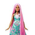 "Barbie ""Дримтопиа"" Принцесса с волшебными волосами, Кукла Барби шатенка, фото 4"