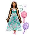 "Barbie ""Дримтопиа"" Принцесса с волшебными волосами, Кукла Барби шатенка, фото 5"