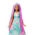 "Barbie ""Дримтопиа"" Принцесса с волшебными волосами, Кукла Барби шатенка, фото 6"