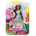 "Barbie ""Дримтопиа"" Принцесса с волшебными волосами, Кукла Барби шатенка, фото 7"