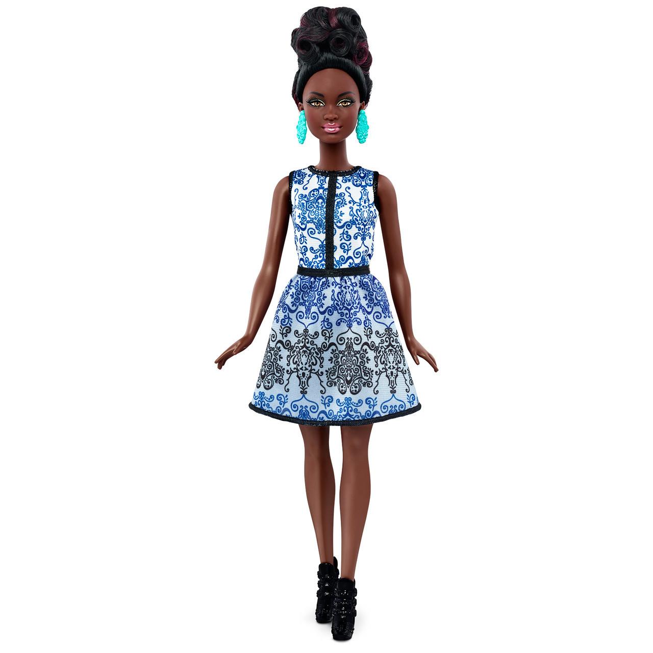 """Barbie """"Игра с модой"""" Кукла Барби - Афроамериканка, Blue Brocade #25 (Миниатюрная)"""