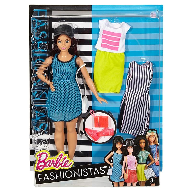 """Barbie """"Игра с модой"""" Кукла Барби - Брюнетка с набором одежды, #38 (Пышная)"""
