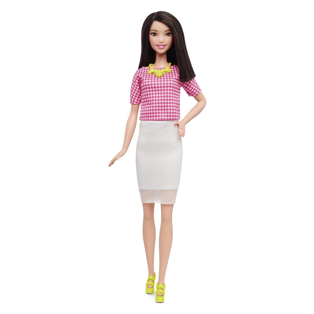 "Barbie ""Игра с модой"" Кукла Барби - Брюнетка,  White & Pink Pizzazz #30 (Высокая)"