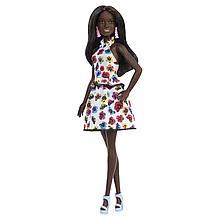 """Barbie """"Игра с модой"""" Кукла Барби Афроамериканка в платье с цветами #106"""