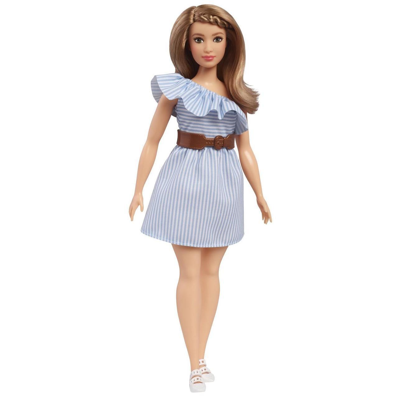 """Barbie """"Игра с модой"""" Кукла Барби Блондинка в голубом платье #76 (Пышная)"""