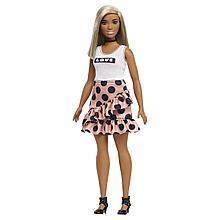 """Barbie """"Игра с модой"""" Кукла Барби Блондинка в персиковой юбке #111 (Пышная)"""