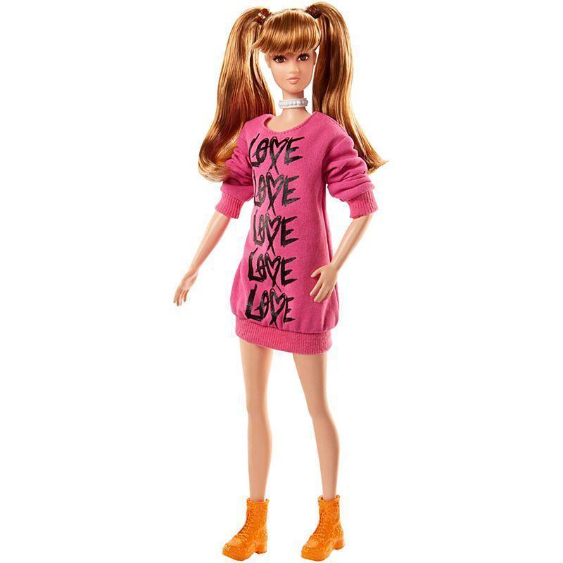 """Barbie """"Игра с модой"""" Кукла Барби Блондинка в розовой кофте """"Love"""" #79 (Высокая)"""