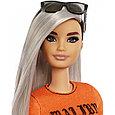 """Barbie """"Игра с модой"""" Кукла Барби с серебристыми волосами в оранжевом топе #107 (Миниатюрная), фото 2"""