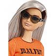 """Barbie """"Игра с модой"""" Кукла Барби с серебристыми волосами в оранжевом топе #107 (Миниатюрная), фото 4"""