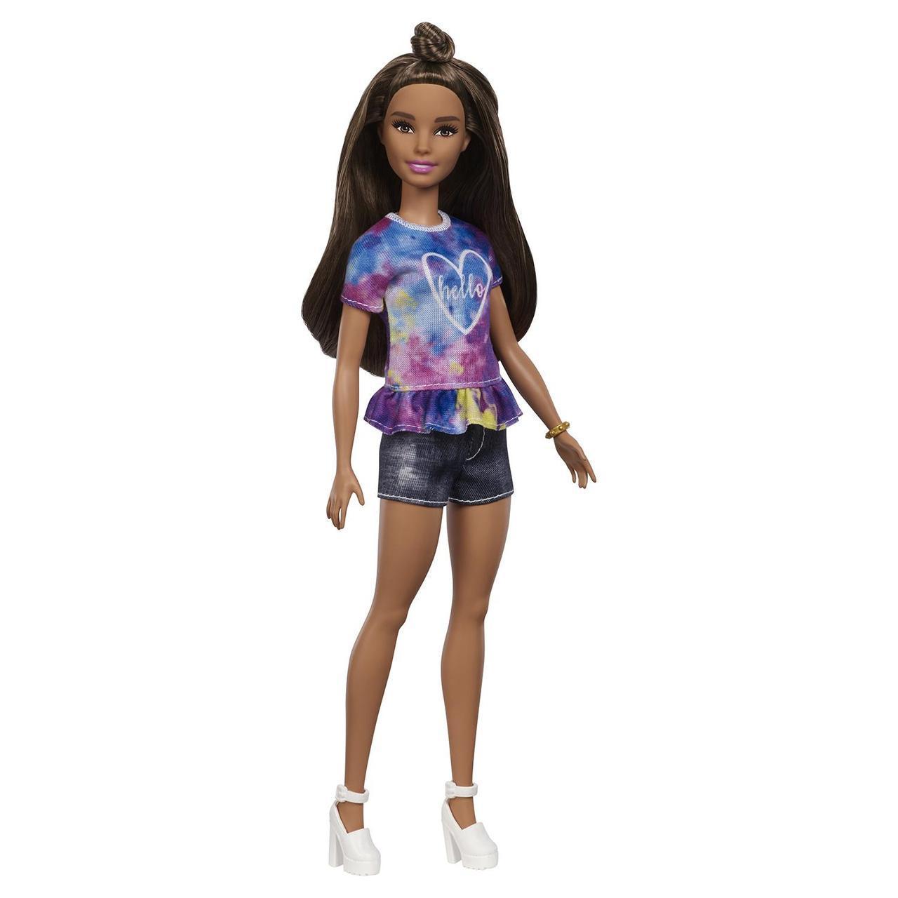 """Barbie """"Игра с модой"""" Кукла Барби Шатенка в цветном топе #112 (Миниатюрная)"""