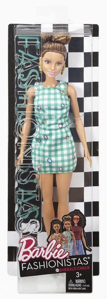 "Barbie ""Игра с модой"" Кукла Барби Шатенка, Emerald Check #50"