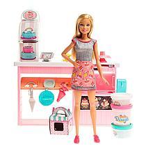 """Barbie """"Кем быть?"""" Игровой набор """"Пекарня"""", с куклой Барби и тортом для декорирования"""