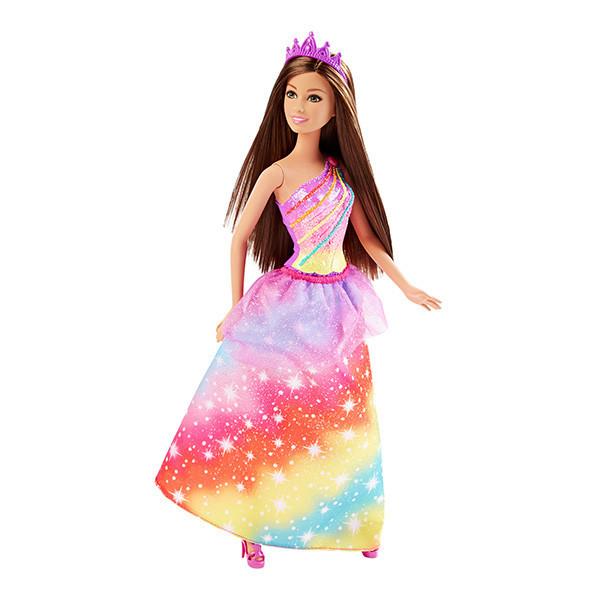 "Barbie ""Королевство радуги"" Кукла Принцесса Барби - шатенка"