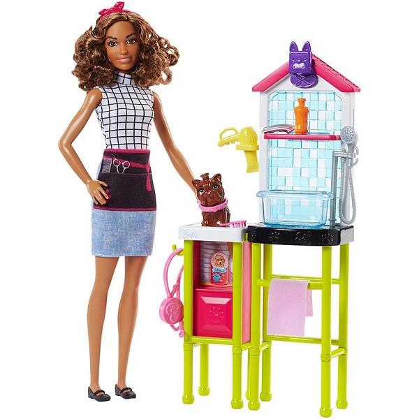 """Barbie """"Профессии"""" Игровой набор """"Кукла Барби - Грумер"""", Кем быть?"""