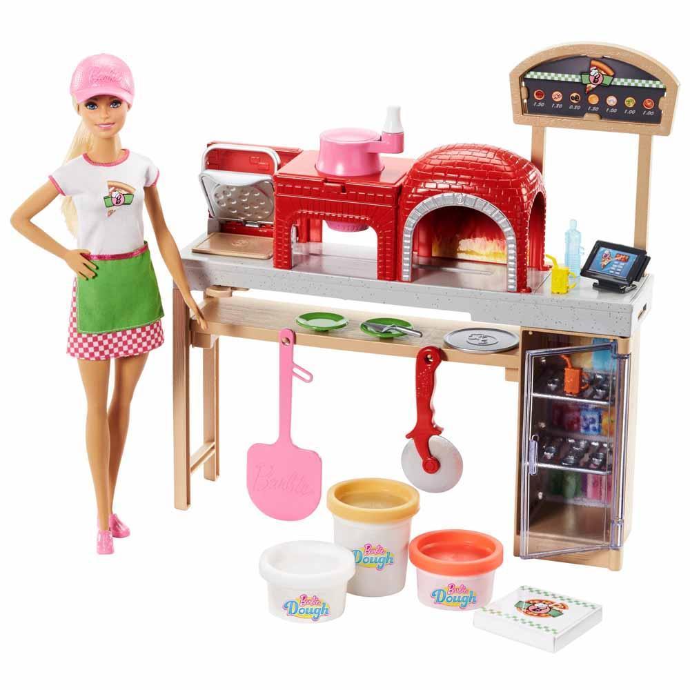 """Barbie """"Профессии"""" Игровой набор """"Кукла Барби - Пицца шеф"""", Кем быть?"""