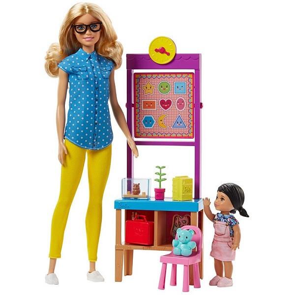 """Barbie """"Профессии"""" Игровой набор """"Кукла Барби - Учитель"""", Кем быть?"""