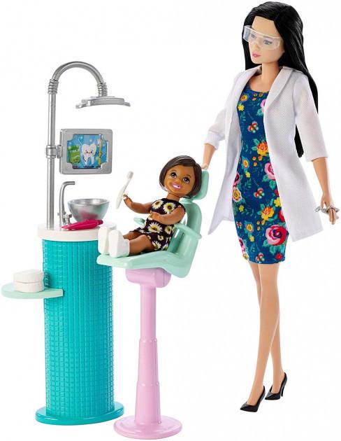 """Barbie """"Профессии"""" Игровой набор """"Кукла Барби Азиатка - Стоматолог"""", Кем быть?"""