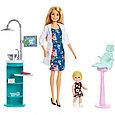 """Barbie """"Профессии"""" Игровой набор """"Кукла Барби Блондинка - Стоматолог"""", Кем быть?, фото 3"""