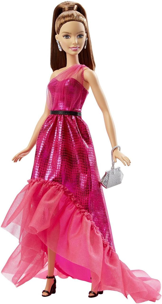 """Barbie """"Розовая изысканность"""" Кукла Барби Шатенка в вечернем платье"""