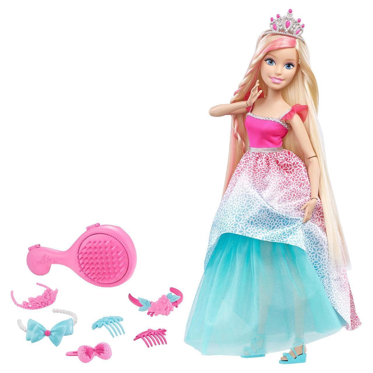 """Barbie """"Роскошные волосы"""" Кукла Блондинка, с длинными волосами, 43 см."""