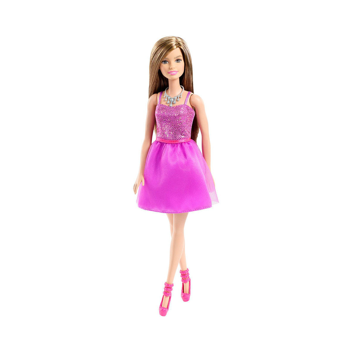 """Barbie """"Сияние моды"""" Кукла Барби - Шатенка в фиолетовом платье"""