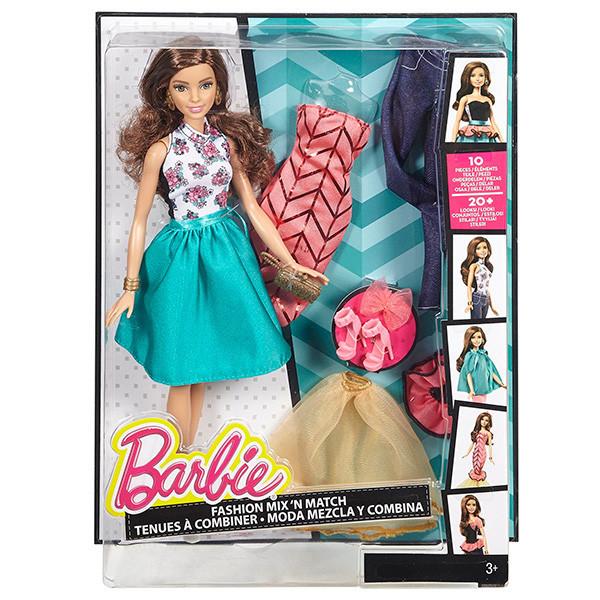 "Barbie ""Сочетай и наряжай"" Кукла Барби Шатенка"