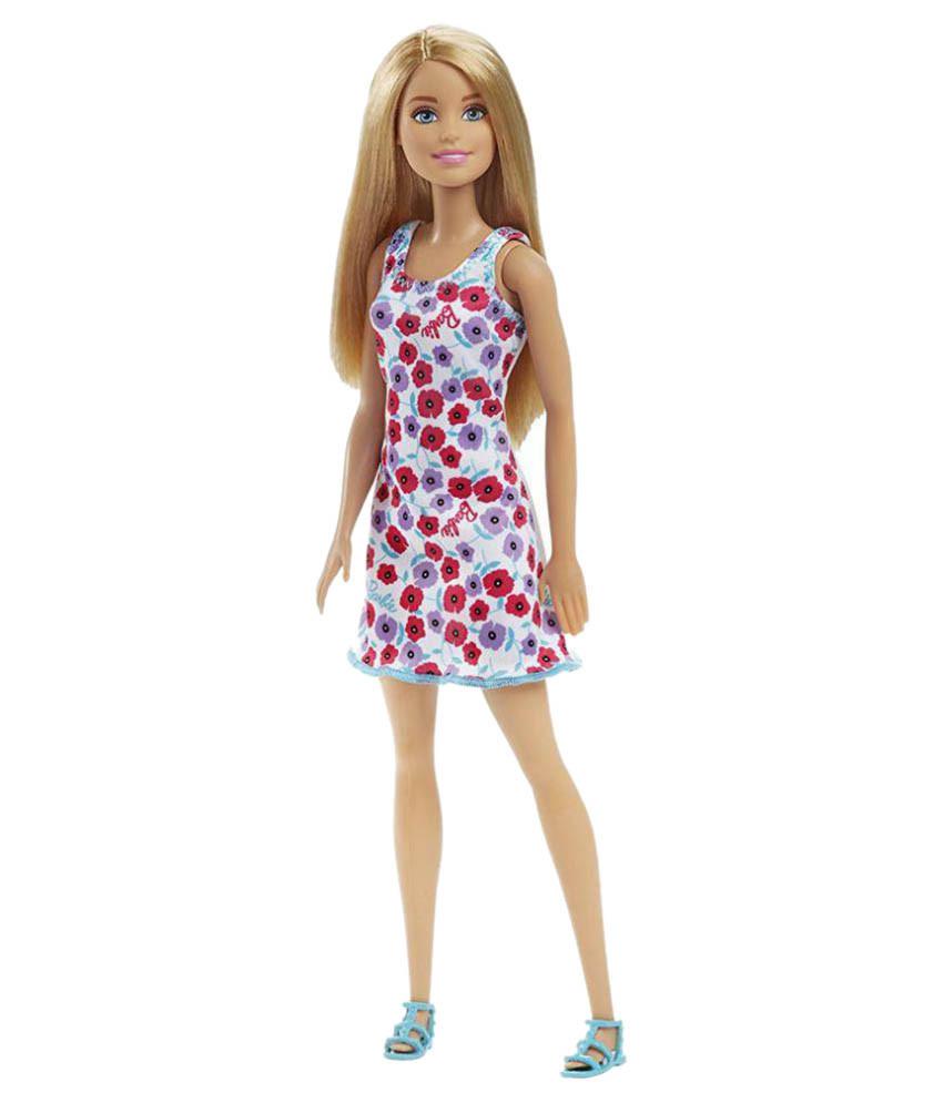 """Barbie """"Стиль"""" Кукла Барби Блондинка в платье с цветочками"""