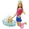 """Barbie Игровой набор """"Водные забавы"""", Барби с щенком, фото 2"""