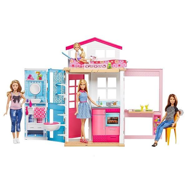 """Barbie Игровой набор """"Двухэтажный дом"""" с куколкой Барби"""