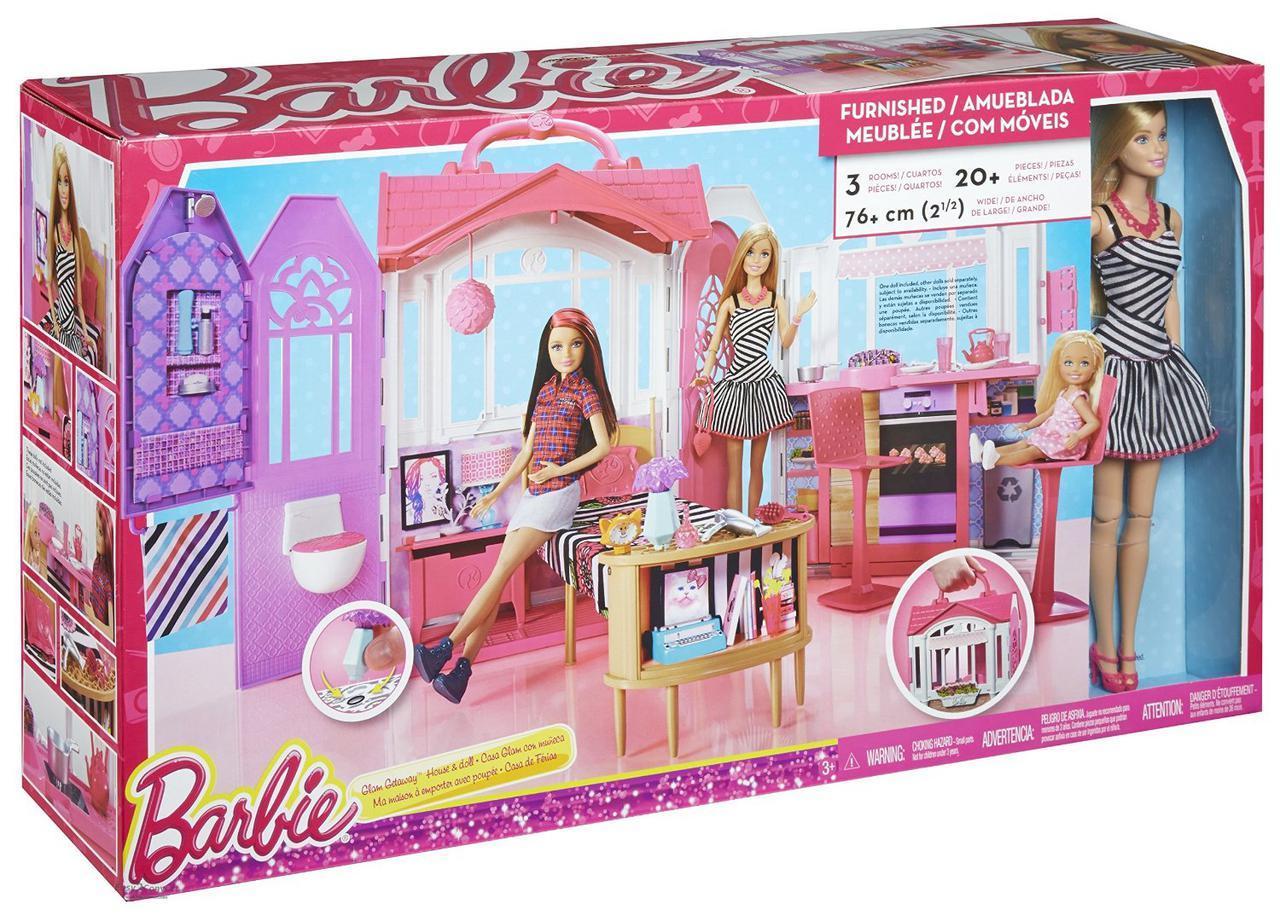 """Barbie Игровой набор """"Переносной домик Барби"""""""