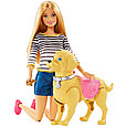 """Barbie Игровой набор """"Прогулка с питомцем"""", Кукла Барби с собакой, фото 3"""