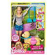 """Barbie Игровой набор """"Прогулка с питомцем"""", Кукла Барби с собакой, фото 5"""